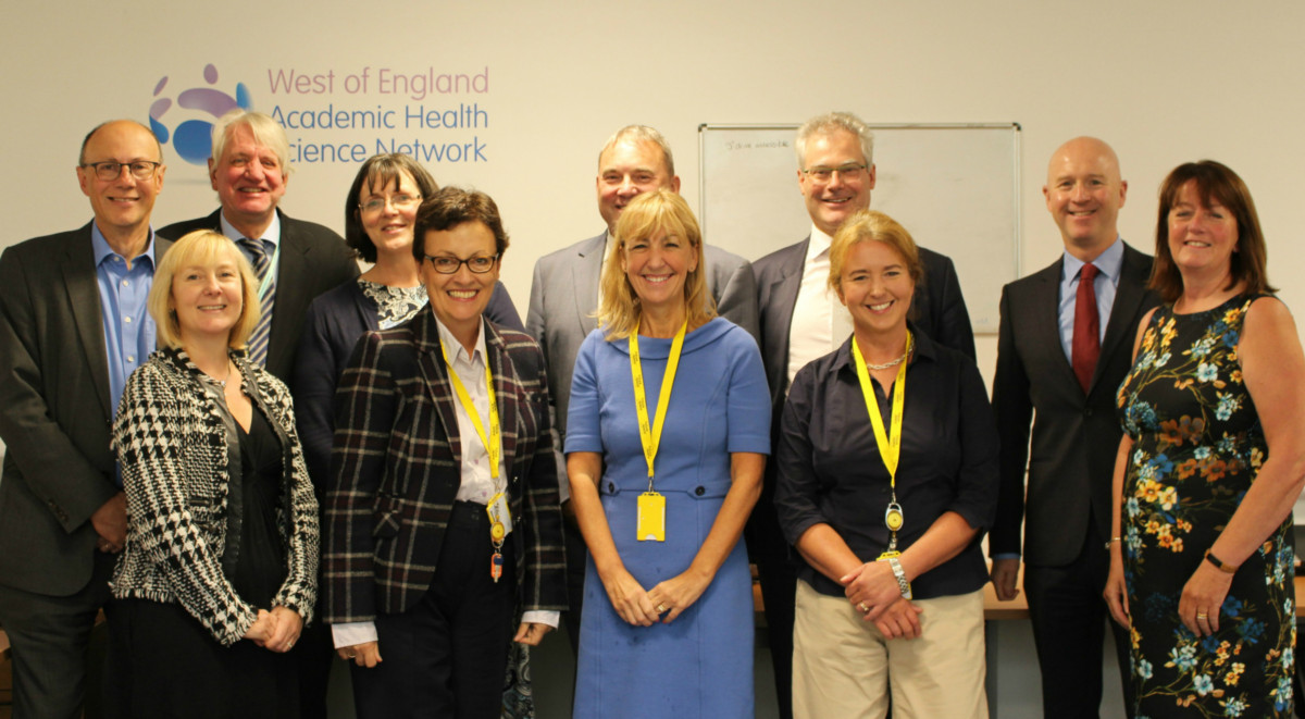 The AHSN senior team and board meet with Professor Stephen Powis